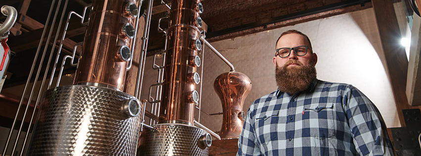 Chris Ober at Black Band Distillery