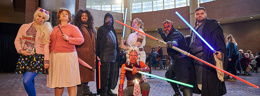 Members of the Cosplay Builders Guild of Central Illinois appeared as Star Wars characters