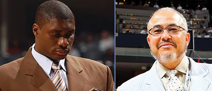 "At left: former Bradley University standout and NBA player Mitchell ""JJ"" Anderson. Right: the late Dana J. Davis, former executive for the Memphis Grizzlies."