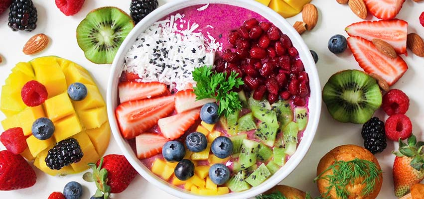 Fruits and berries are high in Vitamin C, which aids in boosting the immune system.
