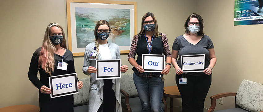 UnityPoint Health team members share their commitment to ensuring the well-being of our community.