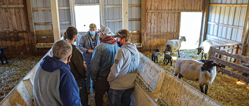 ICC students discuss ag industry issues and learn firsthand from a local farmer and rancher.
