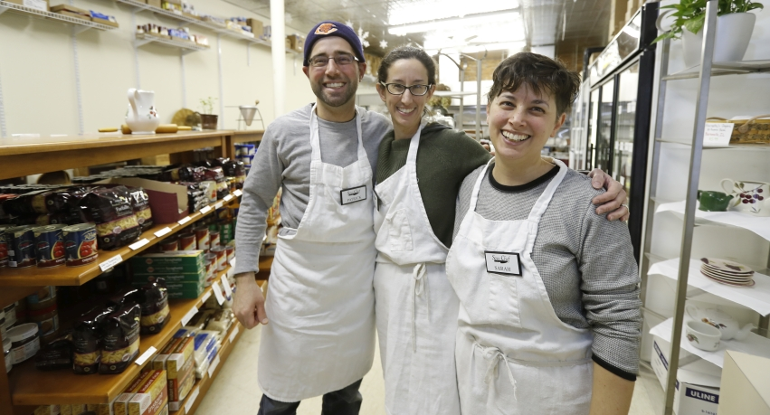 Sous Chef owner Katie Couri Rodolfi with Patrick Couri and Sarah Couri