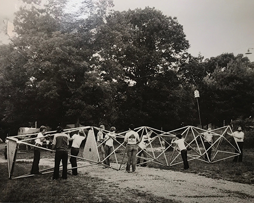 Wind power class at Art & Science in the Woods, 1975.