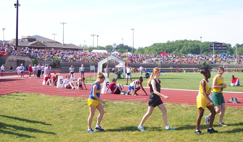 IESA track meet at Eastside Centre, 2018