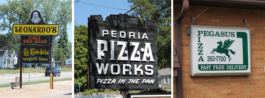 Leonardo's, Peoria Pizza Works, and Pegasus Pizza