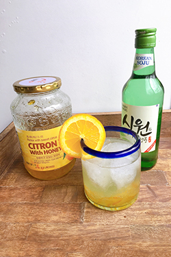 Citron Soju Korean Cocktail
