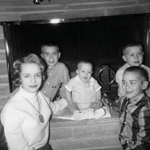 Betty Jayne Blickenstaff with sons