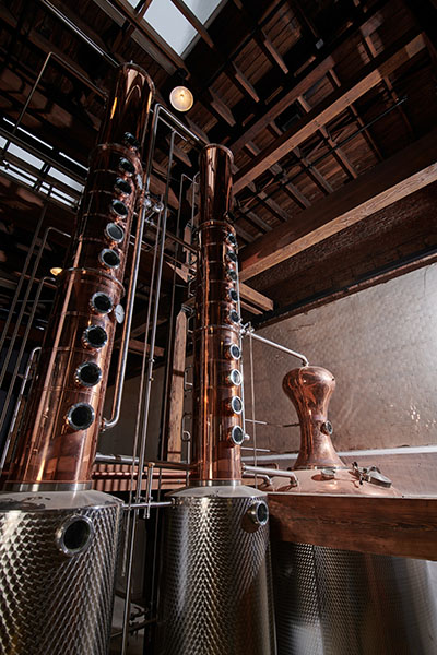 A custom-made still for producing whiskey