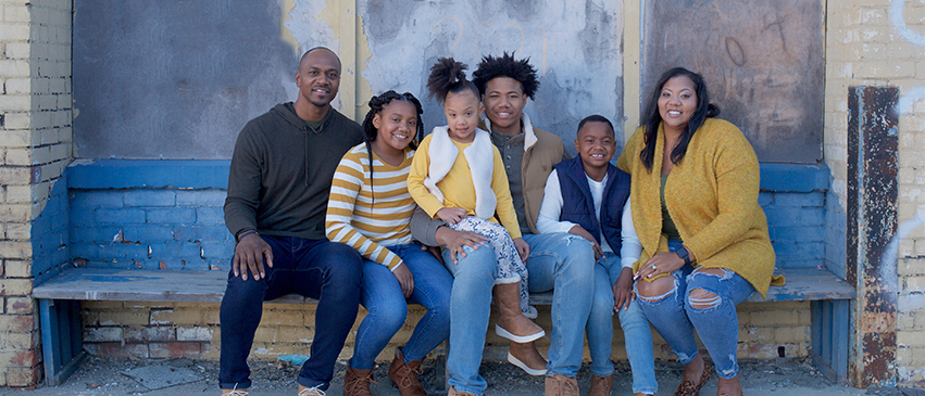 The Sommerville family, L-R: Marcellus, Londyn, Liberty, Lathan, Lawson, and Brooke