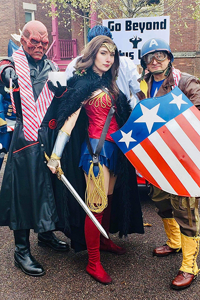 The Cosplay Builders Guild of Central Illinois have recently made appearances at the River City Pride Festival and the Santa Claus Parade.