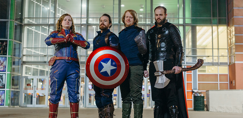 Ultimate Alliance Cosplayers dressed as Avengers characters