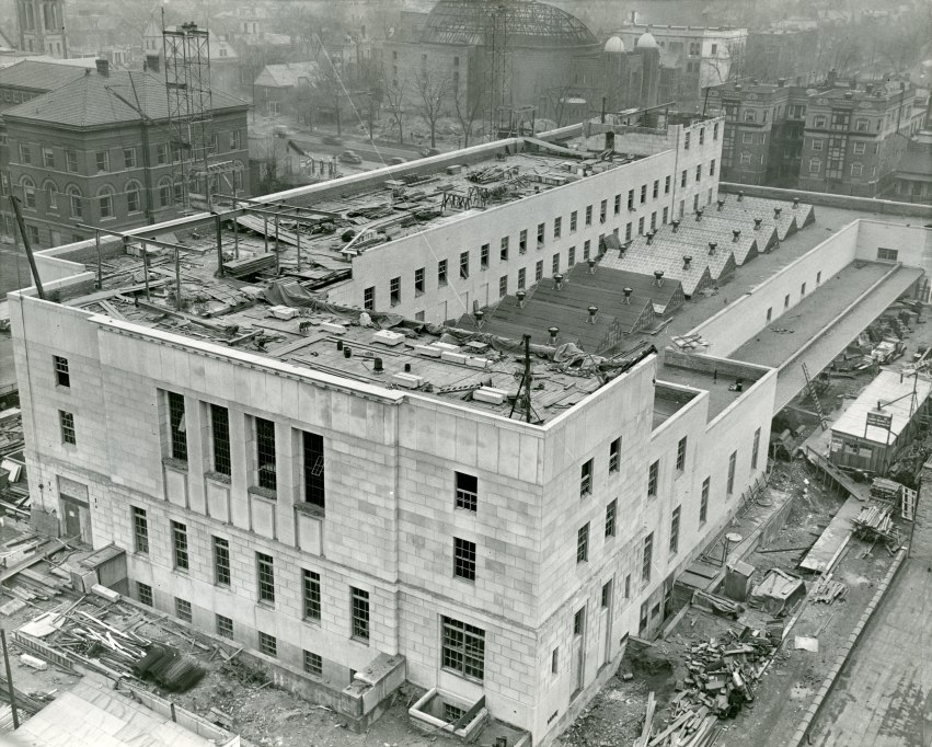 Federal Building under construction, 1938