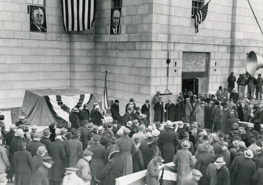Federal Building, laying the cornerstone
