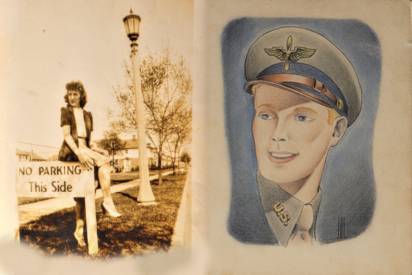 At left, the vivacious Bettye Jeanne Murphy. Right, Cpl. Jerry R. Leunig joined the U.S. Army in 1943.