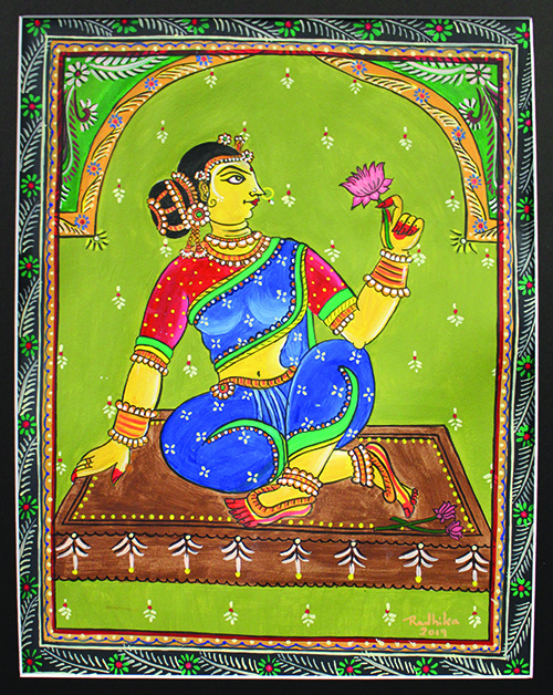 The Pattachitra style is known for its intricate details and mythological narratives.