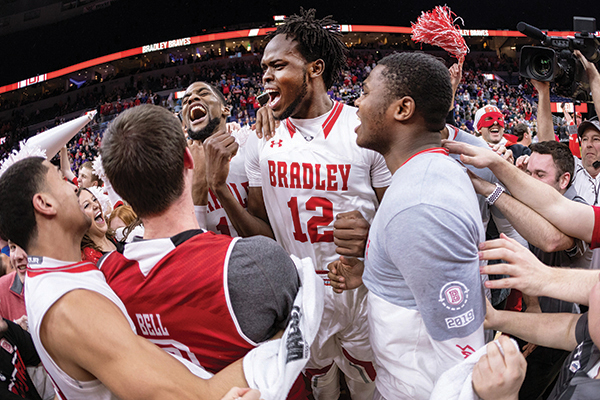 The Bradley basketball team