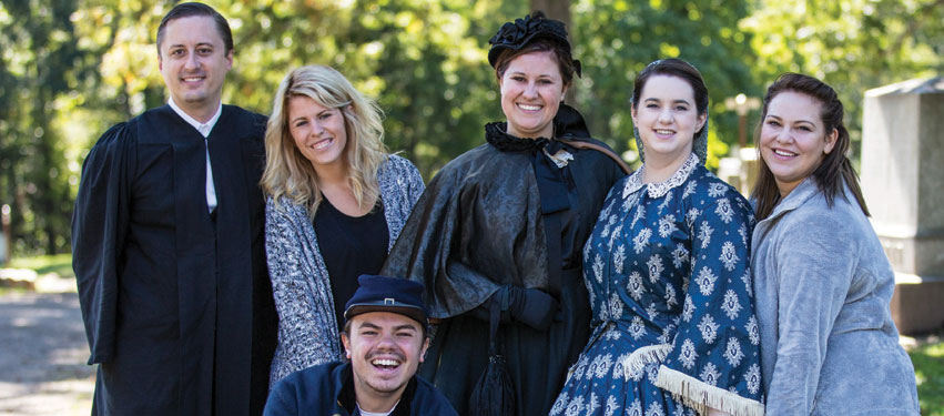 Prairie Folklore Theatre Historic Springdale Cemetery Tours