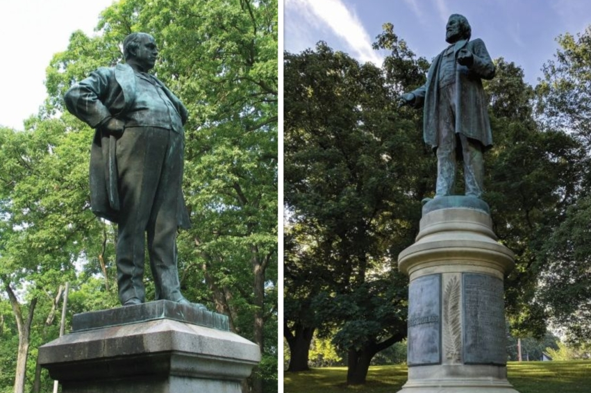 Ingersoll and Douglass statues