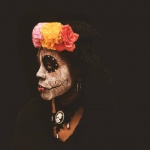 Andraia Pankey, freelance artist, 21 years old: Catrina makeup