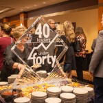 40 Leaders Under Forty ice sculpture