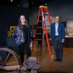 Lottie Phillips, assistant curator of history, and Bill Conger, curator of collections and exhibitions