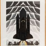Roger Brown, Cathedrals of Space, 1983, Color lithograph, 40 x 30 inches, Illinois Legacy Collection, Illinois State Museum, Gift of JP Morgan Chase