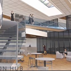 Upper interior of the Peoria Innovation Hub