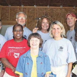 RE/MAX Realtors volunteering for Habitat for Humanity, early 2000s