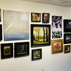 Exhibit A Gallery showcases the work of local artists from central Illinois.