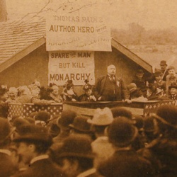 The only known photograph of Robert Ingersoll addressing an audience. New Rochelle, New York, May 30, 1894.