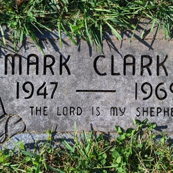 Mark Clark of Peoria was killed in 1969 during a predawn raid by Chicago police. He is buried in Springdale Cemetery. Photo by Paroma Banerjee
