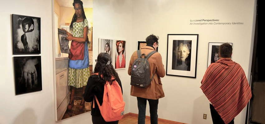 Visitors enjoying the gallery