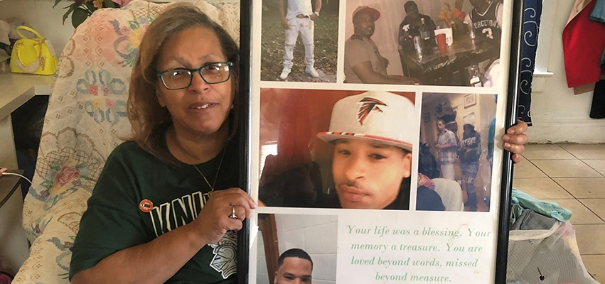 Sandra Leathers tragically lost her son Andre to gun violence on June 29, 2020.